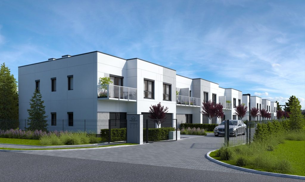 Another residential project from Pekabex Group. Prefabricated terraced houses are under construction in Józefosław near Warsaw.